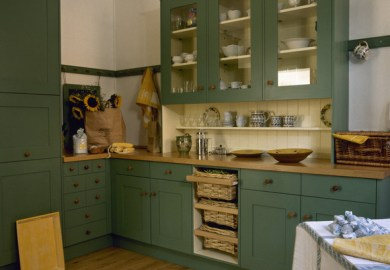 Kitchen Cabinets Green Color