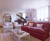 Red-White Contemporary-Traditional Living Room - Living ...