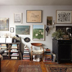 Living Room Furniture For Studio Apartments Warm Neutral Paint Colors Uk The Apartment That Breaks All Small Space Rules Home Main Area Of Ann Stephenson And Lori Scacco S East Village Filled With