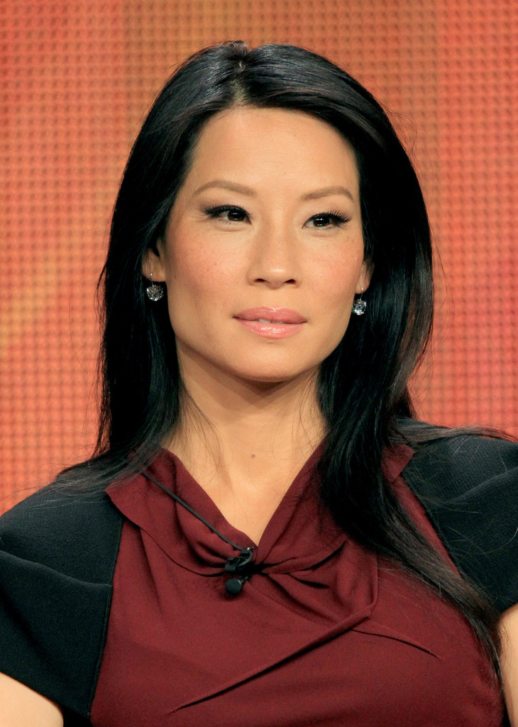 Lucy Liu Smooth Strands The Straightest Celebrity Hair