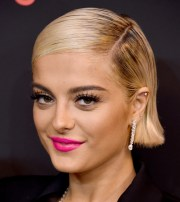 bebe rexha side parted straight