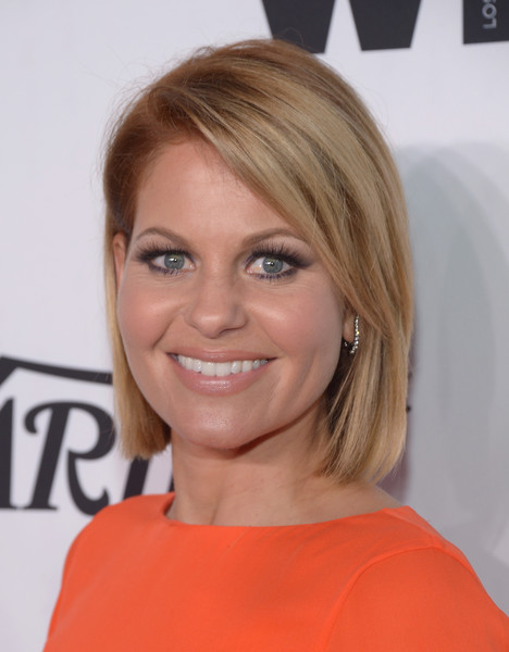 Candace Cameron Bure Short Hair : candace, cameron, short, Candace, Cameron, Parted, Straight, Short, Hairstyles, Lookbook, StyleBistro