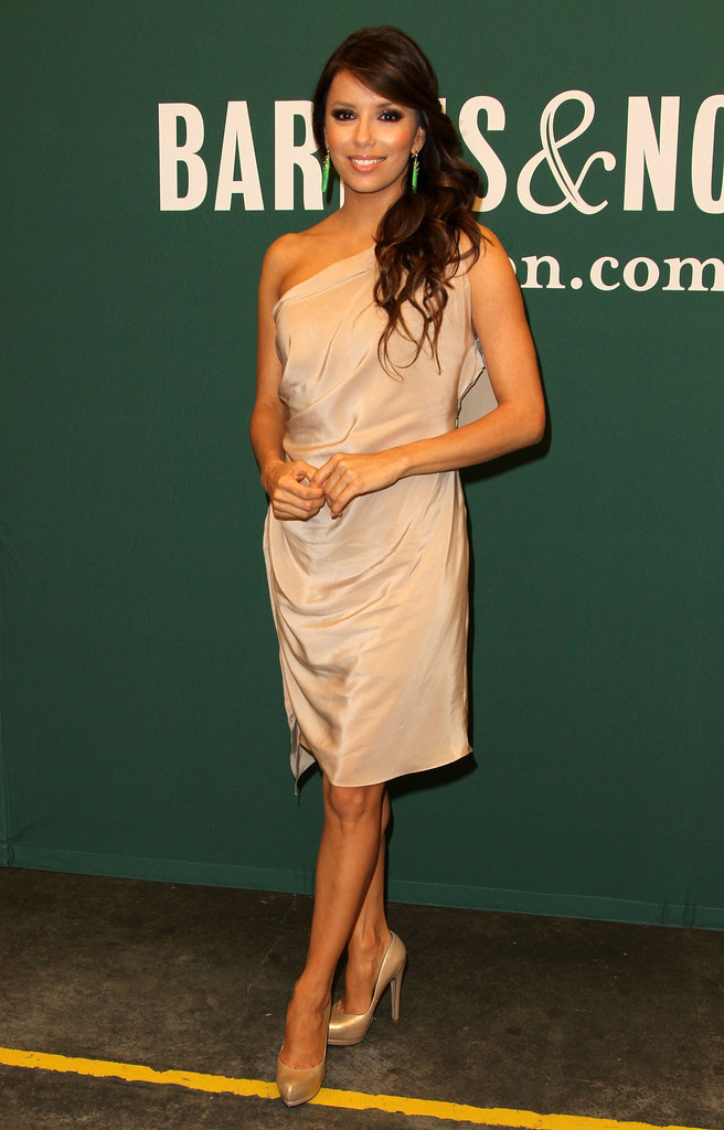 Eva Longoria One Shoulder Dress  Eva Longoria Looks  StyleBistro