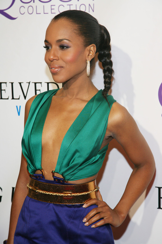 Kerry Washington Long Braided Hairstyle  Kerry Washington