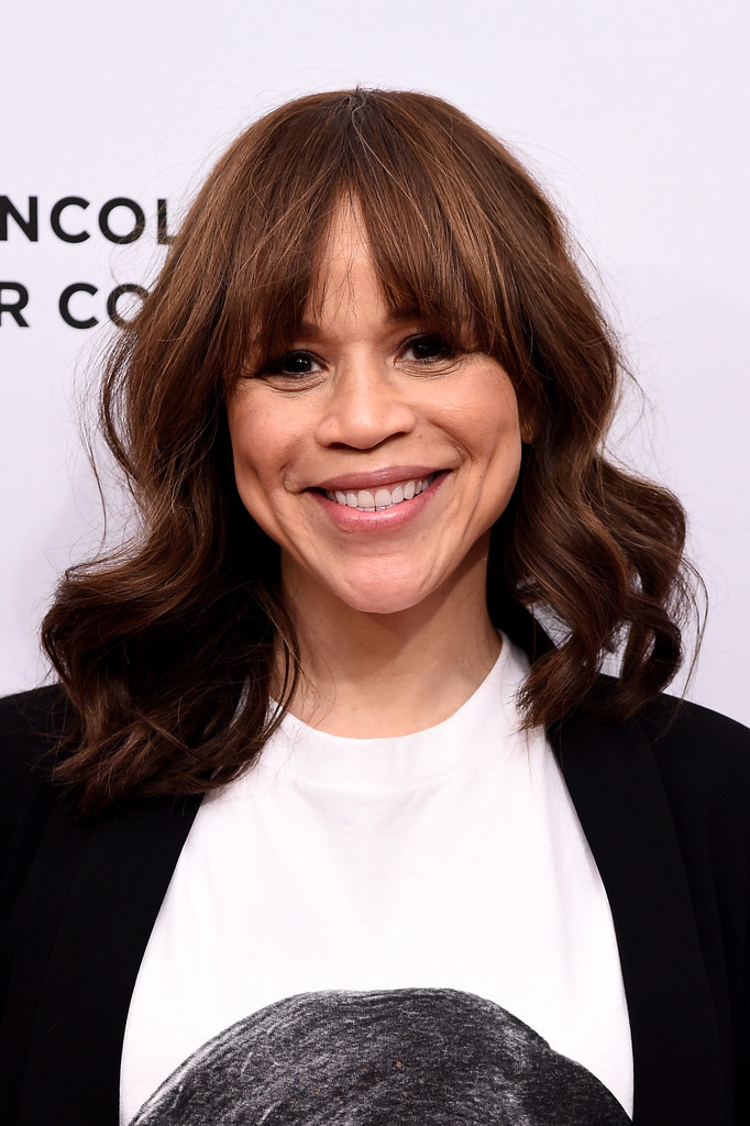 Rosie Perez Medium Wavy Cut with Bangs  Medium Wavy Cut with Bangs Lookbook  StyleBistro