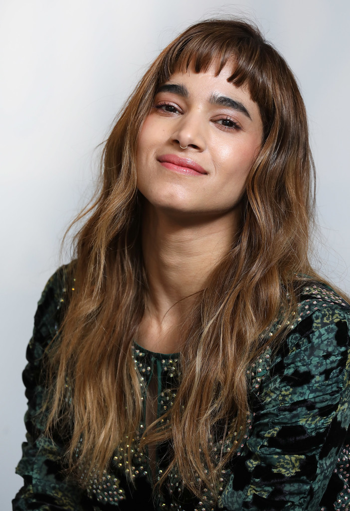 Sofia Boutella Long Wavy Cut with Bangs  Long Hairstyles Lookbook  StyleBistro