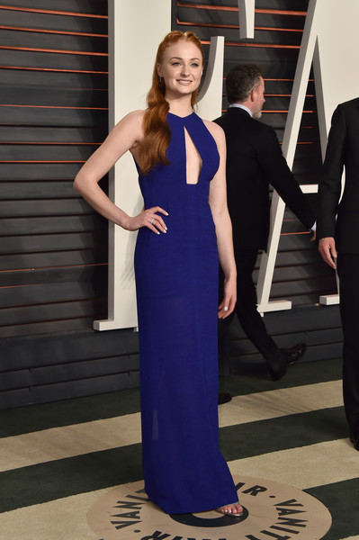 Sophie Turner Cutout Dress