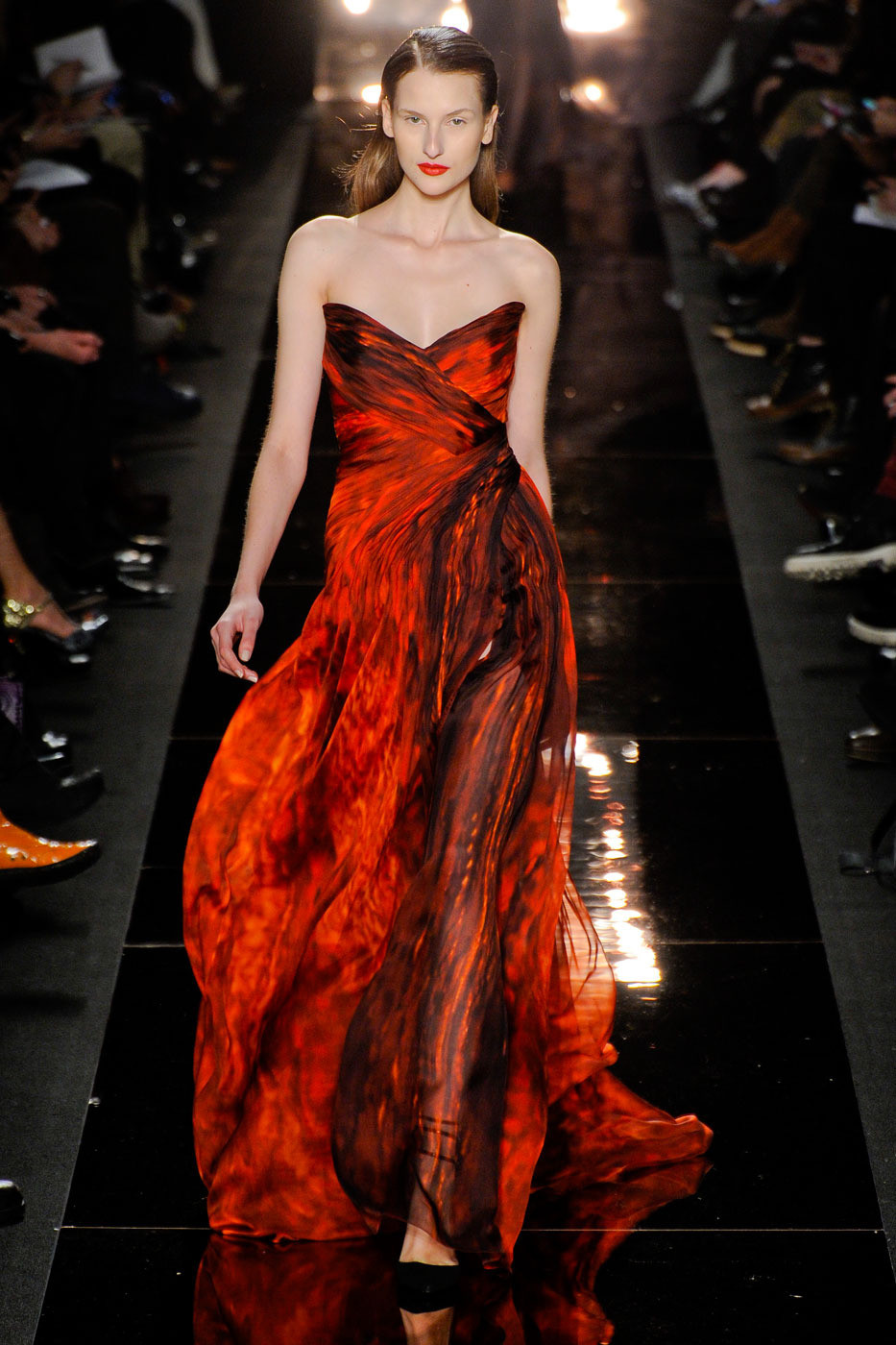 Monique Lhuilliers Fiery Gown  The 20 Hottest Looks From New York Fashion Week Fall 2012