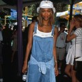 Ultimate 90s fashion in a bucket hat and overalls tyra banks best