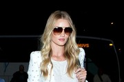Rosie Huntington-Whiteley arrives at LAX.