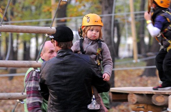 Shiloh Jolie-Pitt Angelina Jolie takes a break from filming her directorial debut feature to spend time with partner Brad Pitt and three of their children, Zahara (b. January 8, 2005), Shiloh (b. May 27, 2006) and Pax (b. November 29, 2003). The kids have fine climbing trees and walking on some ziplines.