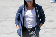 Zac Efron spotted on set.