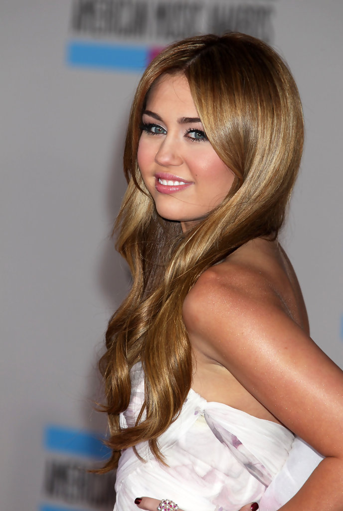 Miley Cyrus Light Brown Hair