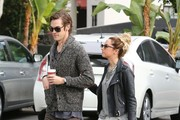 """High School Musical"" star Ashley Tisdale and her husband Christopher French go Christmas shopping at Chanel on December 19, 2014 in Beverly Hills, California. Ashley will be returning to ""Young & Hungry"" next year as lesbian magazine editor Logan Rawlings."