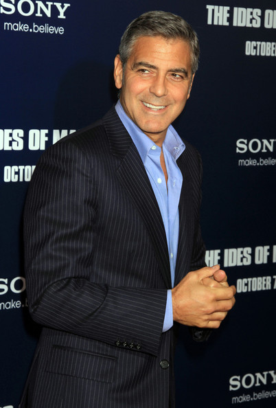 George Clooney Celebrities at the premiere of 'The Ides Of March' in New York City, NY.