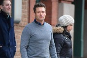 """American Idol"" host Ryan Seacrest steps out in New York City, New York on December 30, 2014. Ryan will again be hosting Dick Clark's ""New Year's Rockin' Eve"" this year in Times Square."
