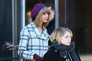 Singer Taylor Swift enjoys lunch with a friend at Lafaette restaurant in New York City, New York on December 19, 2014.