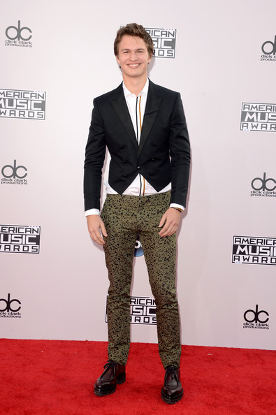 Actor Ansel Elgort attends the 2014 American Music Awards at Nokia Theatre L.A. Live on November 23, 2014 in Los Angeles, California.
