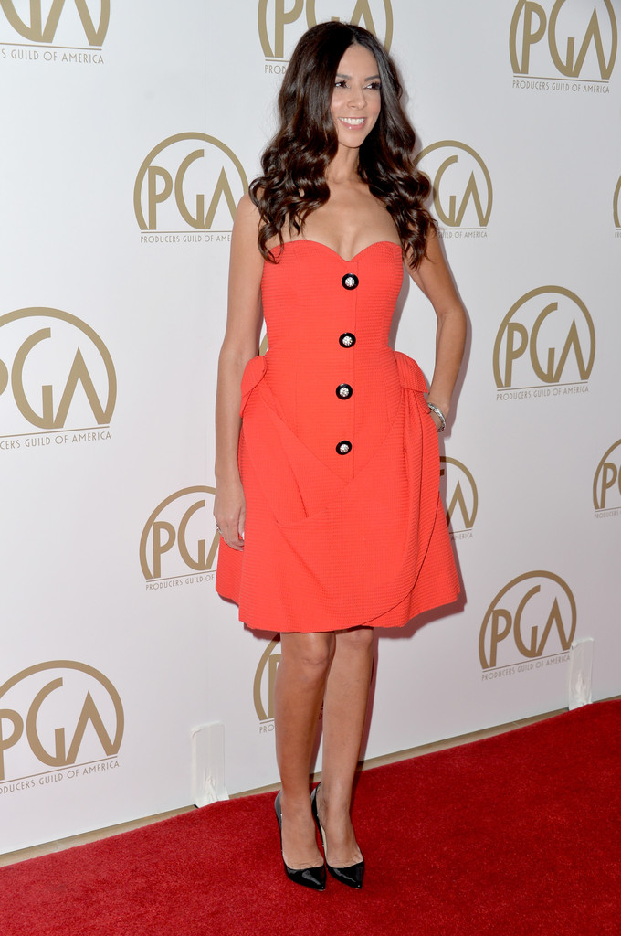 terri seymour orange dress