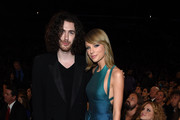 Recording Artists Hozier and Taylor Swift attend The 57th Annual GRAMMY Awards at the STAPLES Center on February 8, 2015 in Los Angeles, California.