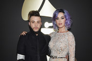 (L-R) Recording Artists Ferras and Katy Perry attend The 57th Annual GRAMMY Awards at the STAPLES Center on February 8, 2015 in Los Angeles, California.