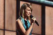 Recording Artist Taylor Swift speaks onstage during The 57th Annual GRAMMY Awards at the STAPLES Center on February 8, 2015 in Los Angeles, California.