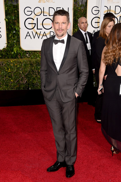 Actor Ethan Hawke attends the 72nd Annual Golden Globe Awards at The Beverly Hilton Hotel on January 11, 2015 in Beverly Hills, California.