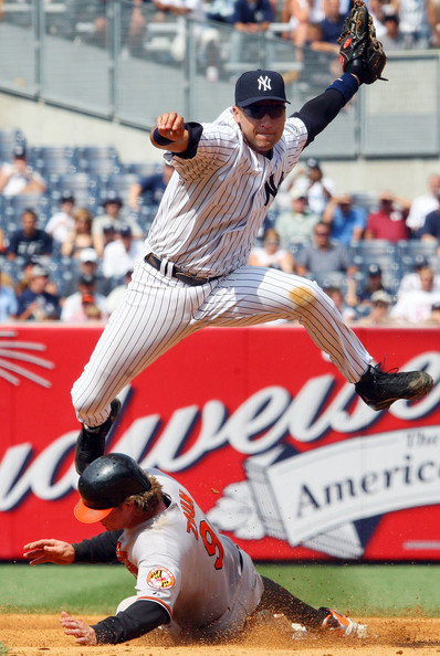 Cool Pictures derek jeter double play