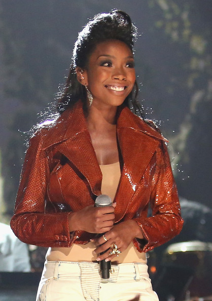 Brandy Singer Brandy Norwood performs onstage during the 2012 BET Awards at The Shrine Auditorium on July 1, 2012 in Los Angeles, California.