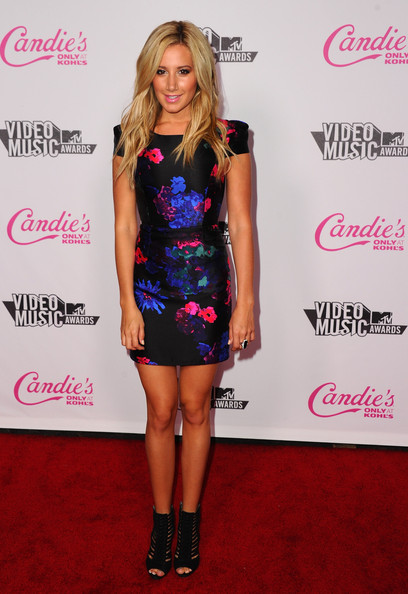 Actress Ashley Tisdale arrives at the Candie's 2011 MTV Video Music Awards After Party at The Colony on August 28, 2011 in Los Angeles, California.