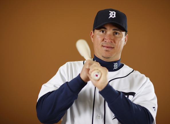 Magglio Ordonez #30 of the Detroit Tigers poses during photo day at the Detroit Tigers Spring Training facility on February 27, 2010 in Lakeland, Florida.