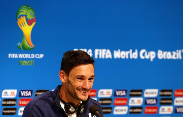 Hugo Lloris, goalkeeper of France attends a France national team press conference at Maracana on July 3, 2014 in Rio de Janeiro, Brazil.