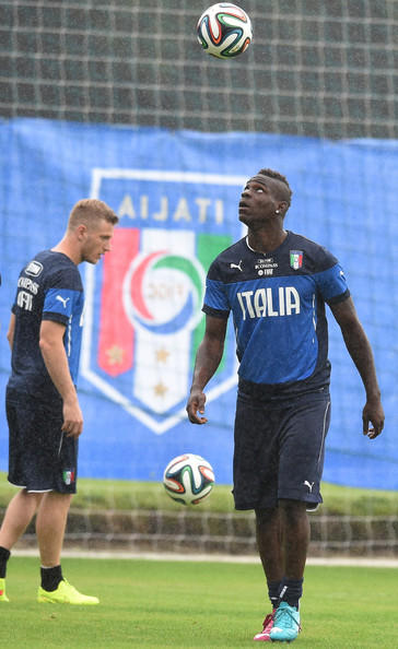 Mario Balotelli of Italy during a training session on June 10, 2014 in Rio de Janeiro, Brazil.