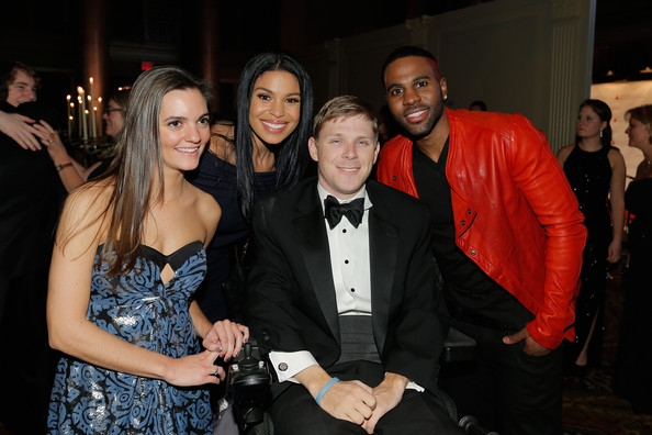 Jason Derulo Aly Carluccio, Jordin Sparks, Taylor Price, and Jason Derulo attend the Christopher & Dana Reeve Foundation's A Magical Evening Gala at Cipriani, Wall Street on November 28, 2012 in New York City.