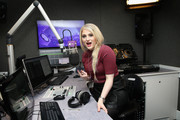 (EXCLUSIVE COVERAGE)  Meghan Trainor visits the Kiss FM Studio's on January 23, 2015 in London, England.