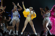 Miley Cyrus performs live at her opening night of The Bangerz Tour at Vector Arena on October 8, 2014 in Auckland, New Zealand.