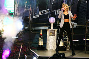 Singer Taylor Swift performs as Moet & Chandon Toasts 2015 As The Official Champagne Of New Year's Eve In Times Square on December 31, 2014 in New York City.