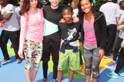Actors  (L-R)  Kira Kosarin, Jack Griffo, Tylen Jacob Williams and Sydney Park attend Nickelodeon's 11th Annual Worldwide Day of Play at Prospect Park on September 20, 2014 in New York City.
