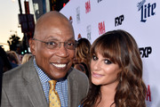 "Executive producer Paris Barclay (L) and actress Lea Michele arrive at the season 7 premiere screening of FX's ""Sons of Anarchy"" at the Chinese Theatre on September 6, 2014 in Los Angeles, California."