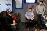 (L-R) Singer Ryan Cabrera, Ryan Sampson and Rich Davis attend Hits 1's The Morning Mash Up Broadcast from the SiriusXM Studios on February 11, 2015 in Los Angeles, California.