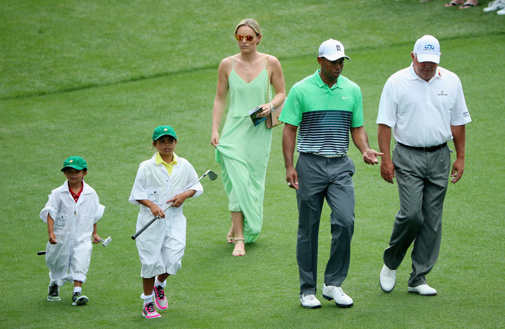 pictures of tiger woods children at masters movies