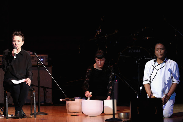NEW YORK, NY - MARCH (L-R) Laurie Anderson,Jesse Paris Smith and Tenzin Choegyal perform on stage at Tibet House Benefit Concert 2015 at Carnegie Hall on March 5, 2015 in New York City.
