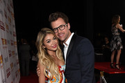 Actress Sarah Hyland (L) and tv personality Brad Goreski attend 'TrevorLIVE LA' Honoring Robert Greenblatt, Yahoo and Skylar Kergil for The Trevor Project at Hollywood Palladium on December 7, 2014 in Los Angeles, California.