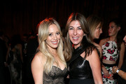 Hilary Duff (L) and Nina Garcia attend The Weinstein Company & Netflix's 2015 Golden Globes After Party presented by FIJI Water, Lexus, Laura Mercier and Marie Claire at The Beverly Hilton Hotel on January 11, 2015 in Beverly Hills, California.