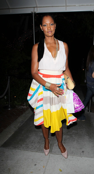 Colour-Blocking with Garcelle Beauvais in Marc Jacobs at the Sunset Marquis