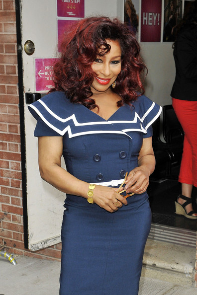 Chaka Khan Singer Chaka Khan goes sailor chic for her appearance on the 'Wendy Williams Show' in New York City, where the recently diabetes diagnosed singer showed off her new trim physique.