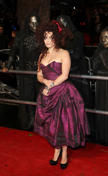 "Helena Bonham Carter Helena Bonham Carter arrives on the red carpet for the world premiere of ""Harry Potter And The Deathly Hallows: Part 1"", Odeon Leicester Square, London."