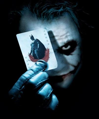 Heath Ledger sebagai Joker dalam Batman: The Dark Knight