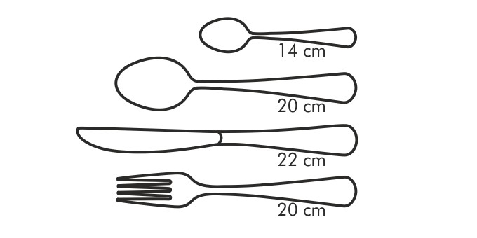 Table cutlery CLASSIC, set of 24