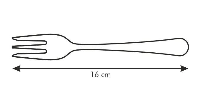 Cake fork CLASSIC, 3 pcs